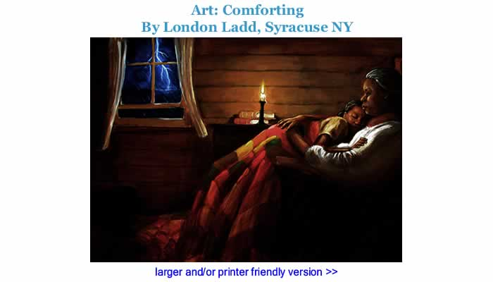 Art: Comforting By London Ladd, Syracuse NY