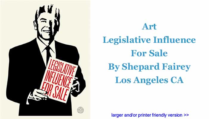 Art: Legislative Influence For Sale By Shepard Fairey, Los Angeles CA