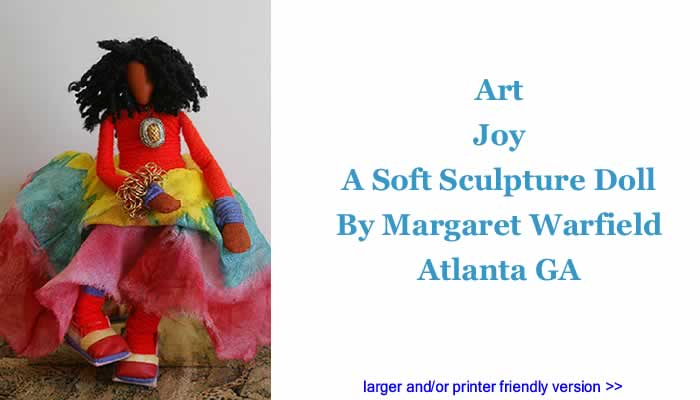 Art: Joy - A Soft Sculpture Doll By Margaret Warfield, Atlanta GA
