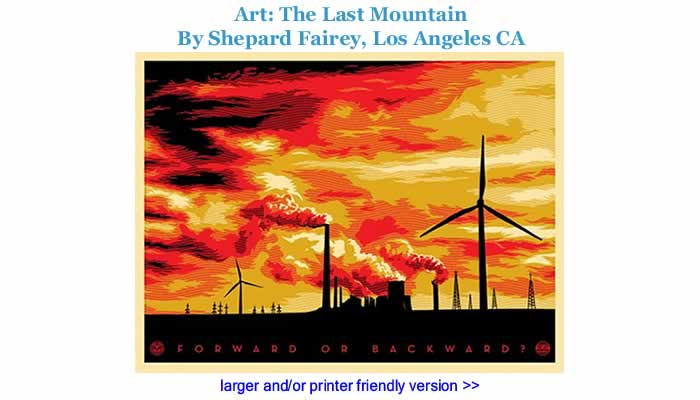 Art: The Last Mountain By Shepard Fairey, Los Angeles CA