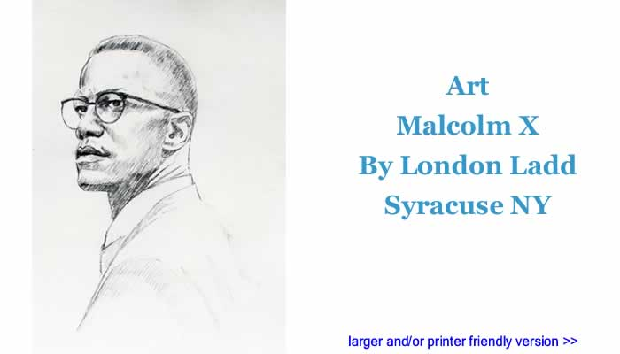 Art: Malcolm X By London Ladd, Syracuse NY