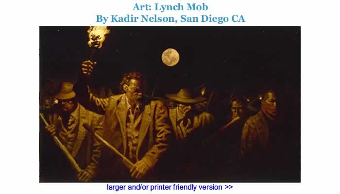 Art: Lynch Mob By Kadir Nelson, San Diego CA