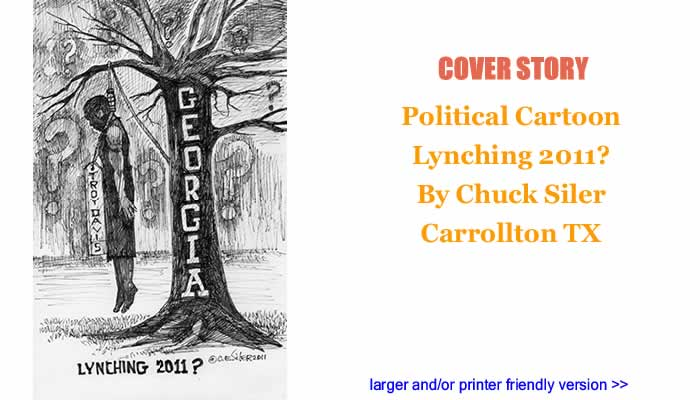 Political Cartoon - Lynching 2011? By Chuck Siler, Carrollton TX