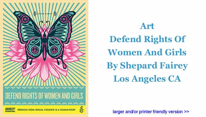Art: Defend Rights Of Women And Girls By Shepard Fairey, Los Angeles CA