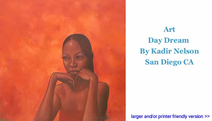 Art: Day Dream By Kadir Nelson, San Diego CA