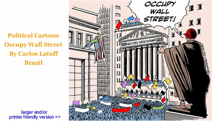 Political Cartoon - Occupy Wall Street By Carlos Latuff, Brazil