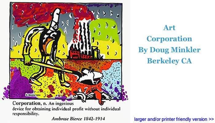 Art: Corporation By Doug Minkler, Berkeley CA