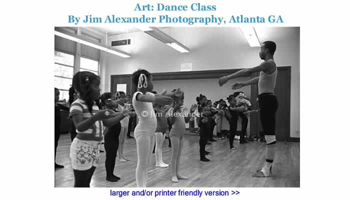Art: Dance Class By Jim Alexander Photography, Atlanta GA