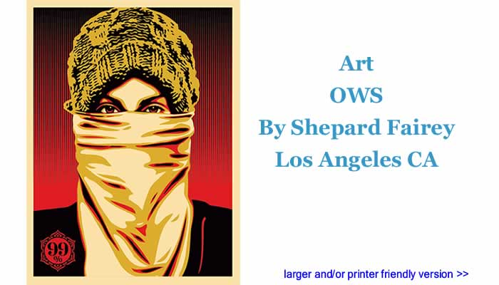 Art: OWS By Shepard Fairey, Los Angeles CA