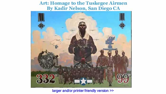Art: Homage to the Tuskegee Airmen By Kadir Nelson, San Diego CA