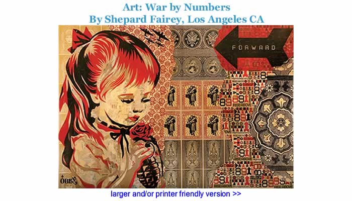 Art: War by Numbers By Shepard Fairey, Los Angeles CA
