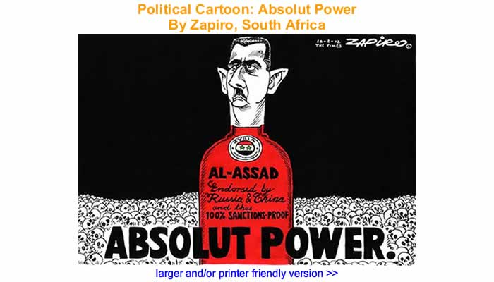 Political Cartoon - Absolut Power By Zapiro, South Africa