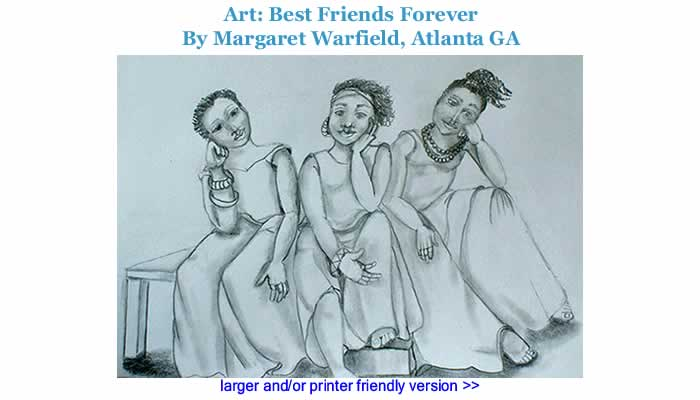 Art: Best Friends Forever By Margaret Warfield, Atlanta GA