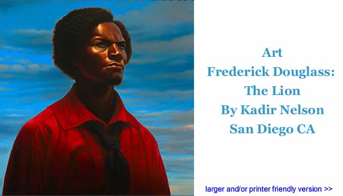 Art: Frederick Douglass - The Lion By Kadir Nelson, San Diego CA