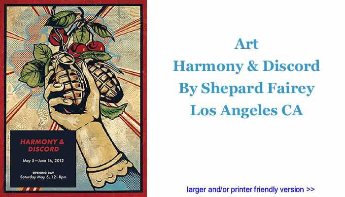 Art: Harmony & Discord By Shepard Fairey, Los Angeles CA