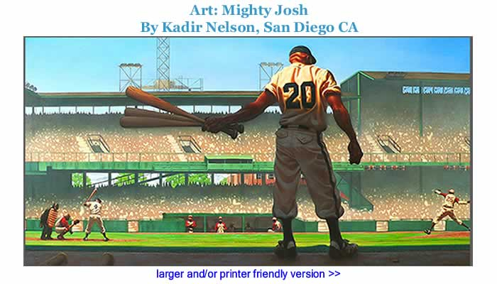 Art: Mighty Josh By Kadir Nelson, San Diego CA