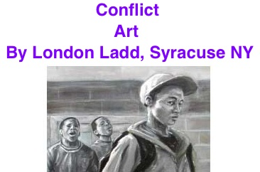 BlackCommentator.com Conflict - Art By London Ladd, Syracuse NY