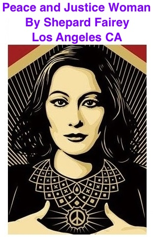 BlackCommentator.com Peace and Justice Woman - Art By Shepard Fairey, Los Angeles CA