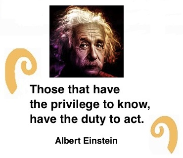 "BlackCommentator.com: Quote to Ponder:  ""Those that have the privilege to know, have the duty to act."" - Albert Einstein"