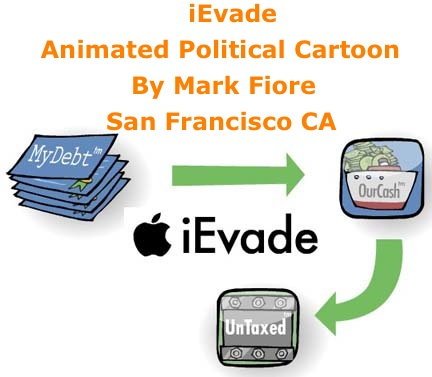 BlackCommentator.com: iEvade - Animated Political Cartoon By Mark Fiore, San Francisco CA