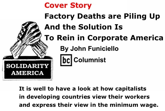 BlackCommentator.com Cover Story: Factory Deaths are Piling Up and the Solution is to Rein in Corporate America - Solidarity America
