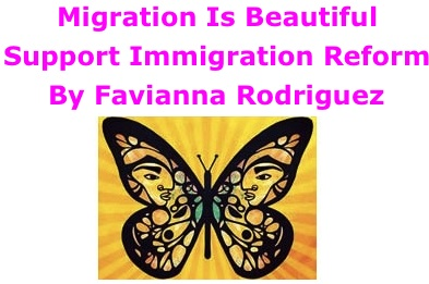 BlackCommentator.com: Migration Is Beautiful / Support Immigration Reform - Art By Favianna Rodriguez