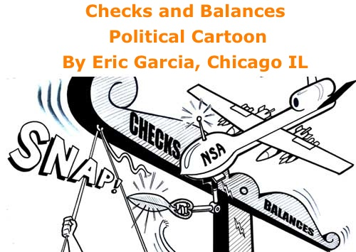 BlackCommentator.com: Checks and Balances - Political Cartoon By Eric Garcia, Chicago IL