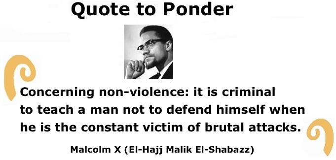 malcom x and non violence Martin and malcolm on nonviolence and violence created date: 20160807145043z.