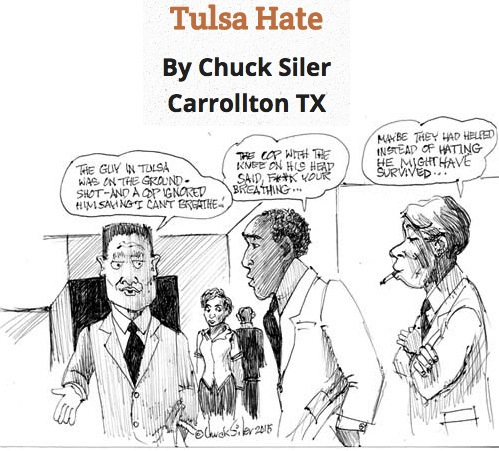 BlackCommentator.com May 14, 2015 - Issue 606: Tulsa Hate - Political Cartoon By Chuck Siler, Carrollton TX