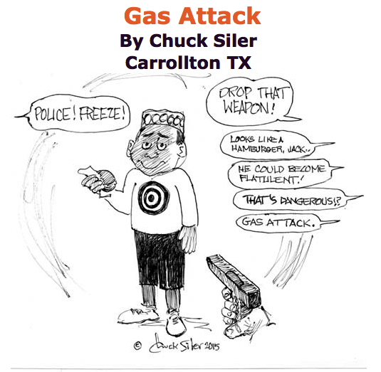 BlackCommentator.com June 11, 2015 - Issue 610: Gas Attack - Political Cartoon By Chuck Siler, Carrollton TX