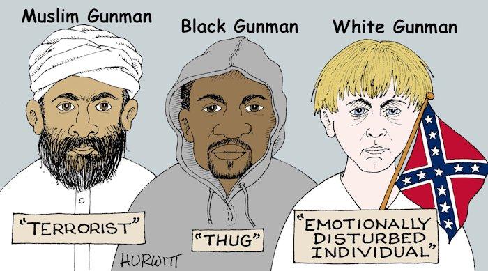 BlackCommentator.com June 25, 2015 - Issue 612: Mindset - Political Cartoon By Mark Hurwitt, Brooklyn NY