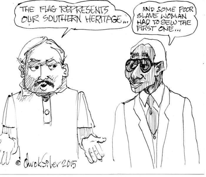 BlackCommentator.com July 02, 2015 - Issue 613: Southern Heritage - Political Cartoon By Chuck Siler, Carrollton TX