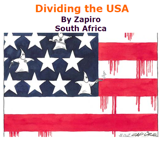 BlackCommentator.com July 09, 2015 - Issue 614: Dividing the USA - Political Cartoon By Zapiro, South Afric
