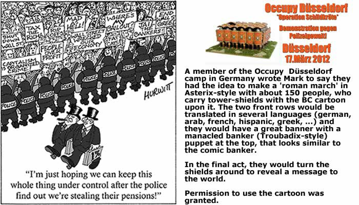 BlackCommentator.com July 16, 2015 - Issue 615: Pension Stealing One Percenters - Used by Occupy Düsseldorf - From the BC