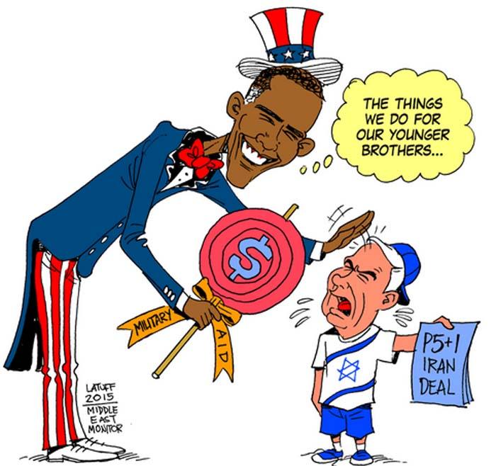 BlackCommentator.com July 23, 2015 - Issue 616: Iran Deal - Political Cartoon By Carlos Latuff, Rio de Janeiro Brazil