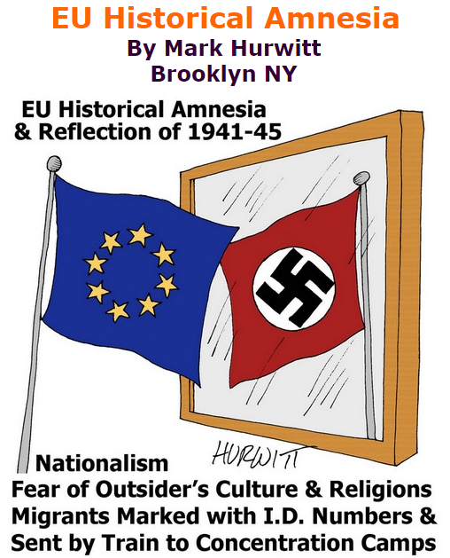 BlackCommentator.com September 10, 2015 - Issue 620: EU Historical Amnesia - Political Cartoon By Mark Hurwitt, Brooklyn NY