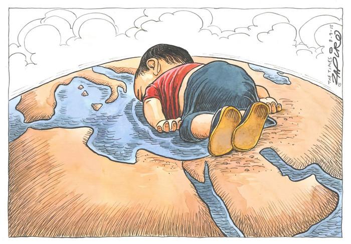 BlackCommentator.com September 17, 2015 - Issue 621: Refugee Tragedy - Political Cartoon By Zapiro, South Africa