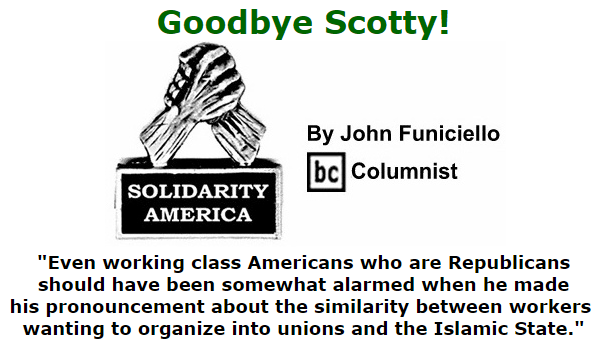 BlackCommentator.com September 24, 2015 - Issue 622: Goodbye Scotty!- Solidarity America By John Funiciello, BC Columnist