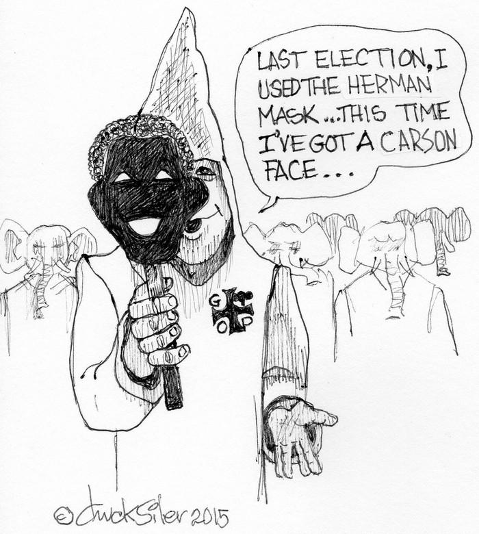 BlackCommentator.com October 01, 2015 - Issue 623: Black Face - Political Cartoon By Chuck Siler, Carrollton TX