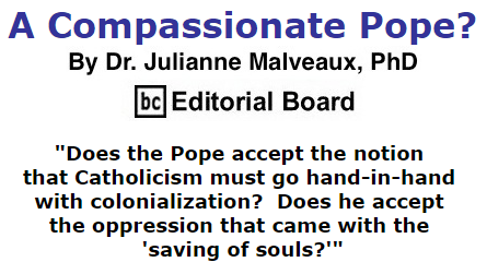 BlackCommentator.com October 01, 2015 - Issue 623: A Compassionate Pope? By Dr. Julianne Malveaux, PhD, BC Editorial Board