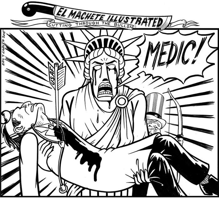 BlackCommentator.com October 15, 2015 - Issue 625: Medic! - Political Cartoon By Eric Garcia, Chicago IL
