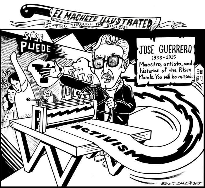 lackCommentator.com October 22, 2015 - Issue 626: Maestro Guerrero - Political Cartoon By Eric Garcia, Chicago IL