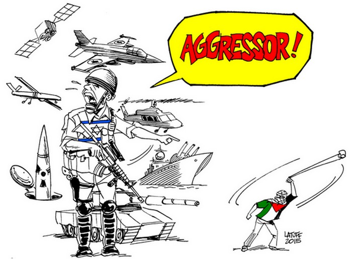 BlackCommentator.com October 22, 2015 - Issue 626: Poor Israel - Political Cartoon By Carlos Latuff, Rio de Janeiro Brazil