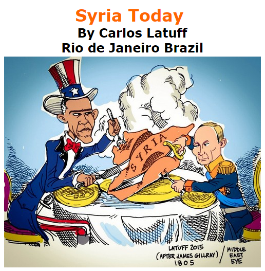 BlackCommentator.com October 29, 2015 - Issue 627: Syria Today - Political Cartoon By Carlos Latuff, Rio de Janeiro Brazil