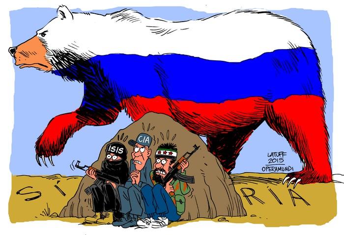BlackCommentator.com November 05, 2015 - Issue 628: Russian Presence in Syria - Political Cartoon By Carlos Latuff, Rio de Janeiro Brazil