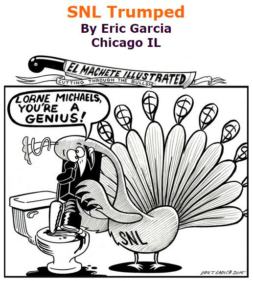 BlackCommentator.com November 12, 2015 - Issue 629: SNL Trumped - Political Cartoon By Eric Garcia, Chicago IL