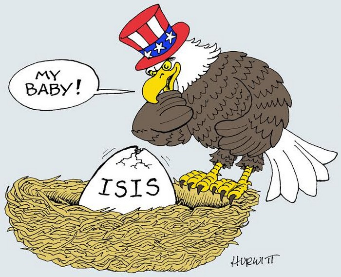 BlackCommentator.com December 03, 2015 - Issue 632: Hatching ISIS - Political Cartoon By Mark Hurwitt, Brooklyn NY