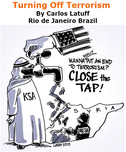 BlackCommentator.com December 03, 2015 - Issue 632: Turning Off Terrorism - Political Cartoon By Carlos Latuff, Rio de Janeiro Brazil