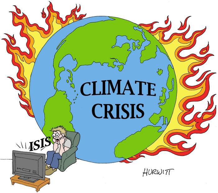 BlackCommentator.com December 10, 2015 - Issue 633: Climate Crisis - Political Cartoon By Mark Hurwitt, Brooklyn NY