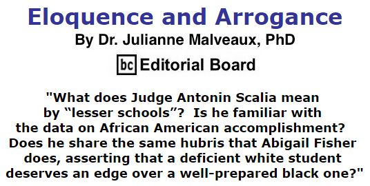 BlackCommentator.com December 17, 2015 - Issue 634: Eloquence and Arrogance By Dr. Julianne Malveaux, PhD, BC Editorial Board
